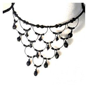 Jewelry - Black Beaded Choker Necklace